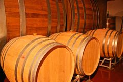 Oak wine barrels winery Royalty Free Stock Photography