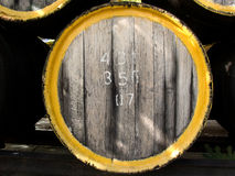 Oak wine casks Royalty Free Stock Images