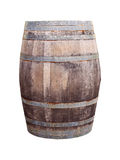 Oak wood barrel isolated on white Royalty Free Stock Photos