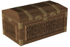 Oak Wood Chest Stock Image