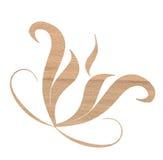 Oak wood decoration. Isolated oak wood texture decoration Royalty Free Stock Photos