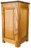Oak Wood Pedestal End Table Stock Photos
