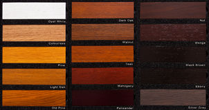 Oak wood samples Royalty Free Stock Images