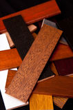 Oak wood samples Royalty Free Stock Photo