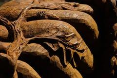 Oak wood sculpture stock images