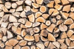 Oak wood stacked Royalty Free Stock Image