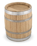 Oak wooden barrel Stock Images