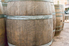 Oak wooden Barrel Stock Images