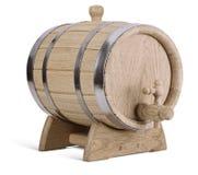 Oak wooden barrel Stock Photos