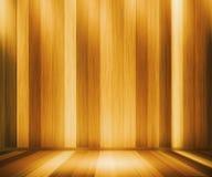 Oak Wooden Panels Room Stock Photos