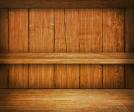 Oak Wooden Shelf Background Stock Image
