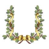 Oak wreath royalty free illustration