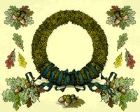 Oak Wreath Royalty Free Stock Image