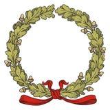 Oak Wreath. Vector illustration of Oak Wreath Stock Images