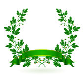 Oak Wreath. Computer illustration, isolated on the white Stock Photo