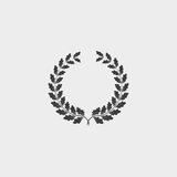 Oak wreath icon in a flat design in black color. Vector illustration eps10 Royalty Free Stock Photography