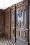 oaken panels trä Arkivbilder