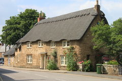 Oakham halmtäckte huset Royaltyfria Bilder