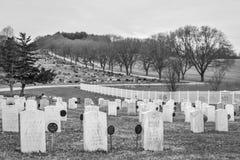 Oakhillbegraafplaats - Janesville, WI Stock Foto's