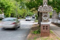 Oakhurst, een deel van de stad van Decatur, Georgië stock foto