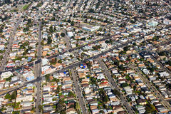 Oakland Aerial View. Aerial view of residential neighborhoods in Oakland, California Stock Photography