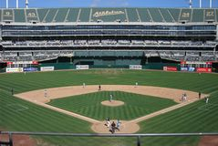 Oakland-Alameda County Coliseum Royalty Free Stock Photos