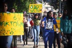 Oakland Anti Gentrification March Royalty Free Stock Photo
