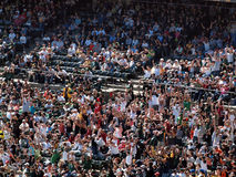 Oakland As fans do the wave Royalty Free Stock Photo