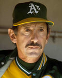 Oakland Athletics manager Billy Martin. Billy Martin, manager of the Oakland A's. (Image taken from color slide Stock Photos