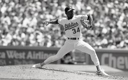 Oakland Athletics miotacz Dave Stewart fotografia stock