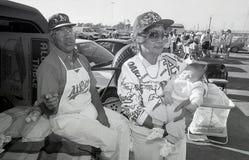 Oakland Athleticsfans 1990 arkivbilder