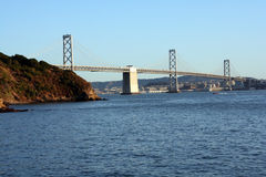 Oakland Bay Bridge in California. Scenic view of the Oakland Bay Bridge in California Royalty Free Stock Photos