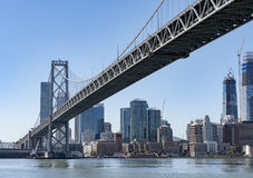 Oakland bay bridge Stock Image