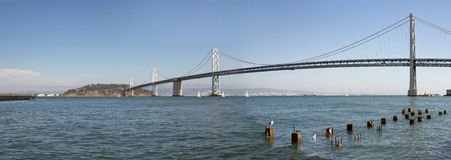 Oakland Bay Bridge Over San Francisco Bay Royalty Free Stock Images