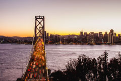 Oakland Bay Bridge rush hour Royalty Free Stock Images