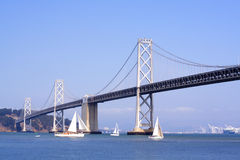 Oakland Bay Bridge in San Francisco Stock Photos