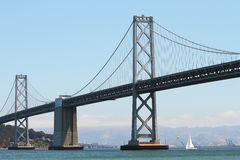 Oakland Bay Bridge between San Francisco and Oakland California Royalty Free Stock Photo