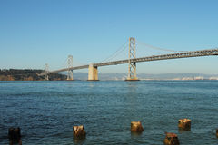 Oakland Bay Bridge between San Francisco and Oakland California Stock Photography
