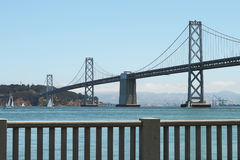 Oakland Bay Bridge between San Francisco and Oakland California Royalty Free Stock Photography
