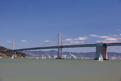 The Oakland Bay Bridge between San Francisco and Oakland Stock Photo