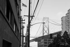 Oakland Bay Bridge in San Francisco Royalty Free Stock Image
