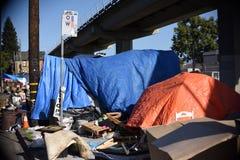 Oakland bezdomny obozy obrazy stock
