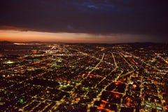 Oakland bij nacht royalty-vrije stock fotografie
