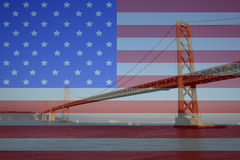 Oakland Bridge royalty free stock photos