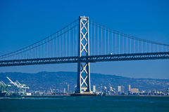 Oakland bridge from pier seven Stock Photography