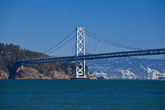 Oakland bridge from pier seven Royalty Free Stock Images