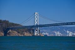 Oakland bro från pir sju Royaltyfria Bilder