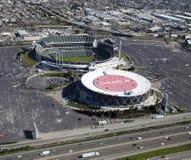 OAKLAND, CA, V.S.-Oakland-Alameda Provincie Coliseum stock foto's