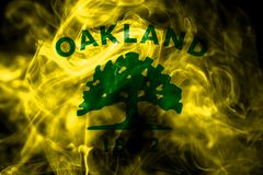 Oakland city smoke flag, California State, United States Of Amer. Ica royalty free illustration