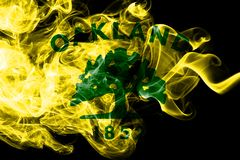 Oakland city smoke flag, California State, United States Of America.  vector illustration